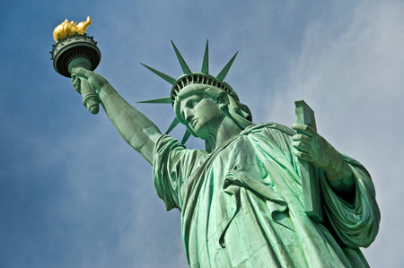 44870712 - close up of the statue of liberty, new york city, usa