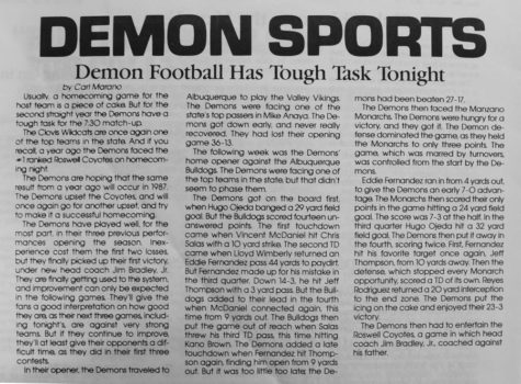 Remember when...Principal Marano (Class of 1989) was a Demon Tattler reporter?