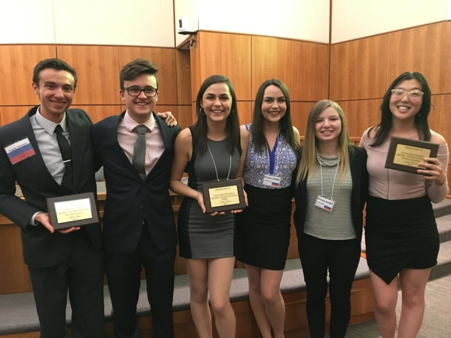 Model UN Club Wins Three Awards at NM Conference